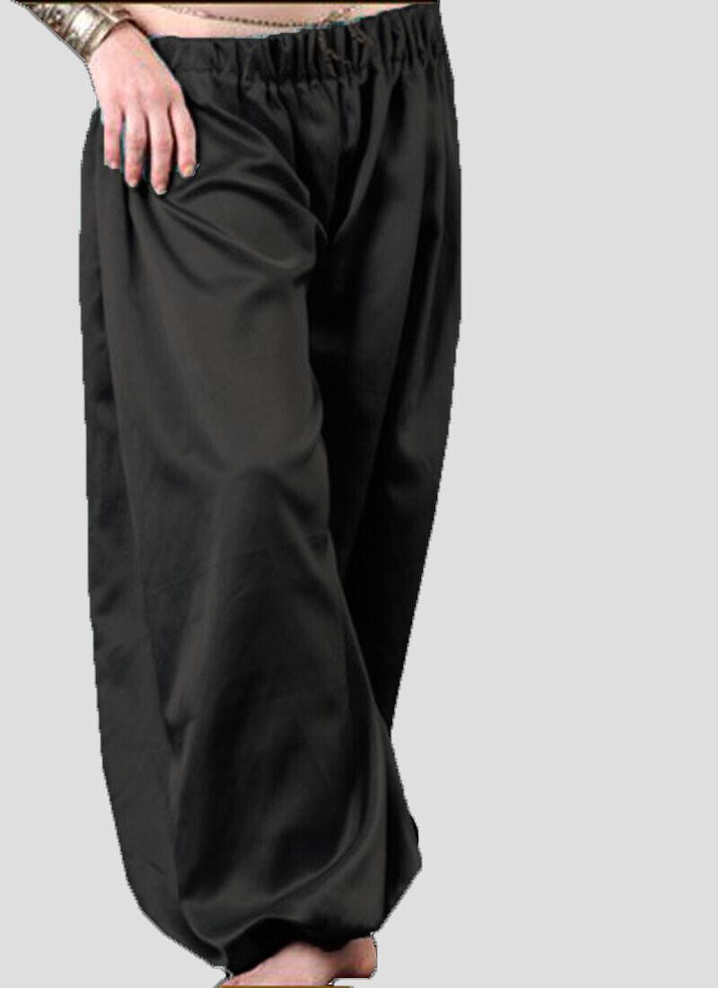 Satin Women's Special Harem Pant Black Color Belly Dancing Harem Yoga Pant S66
