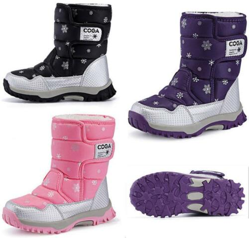 New product Boys Girls Plus Size Winter Kids Waterproof Boots Snow Boots 3 Color