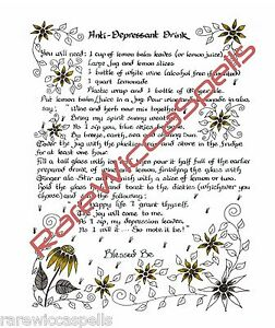 Healing-Spell-for-Anti-Depression-Drink-Wicca-Book-of-Shadows-Spell-Ritual