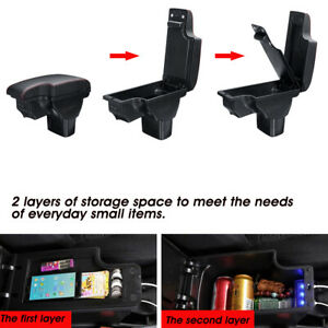 Central-Armrest-Console-Storage-Box-Cup-Handrails-USB-For-Nissan-Juke-2010-15