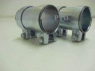 Auspuff Rohrverbinder Doppelschelle  Ø:80,5mm auf 76 mm  Länge 125 mm