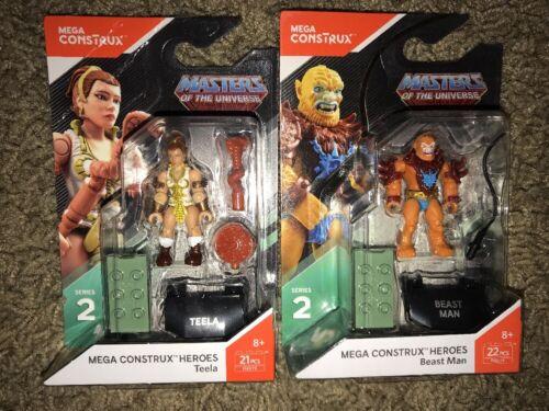 Mega Construx Masters of the Universe Series 2 Teela /& Beast Man lot of 2 New
