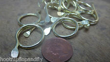 20 x ELECTRO BRASSED SPLIT CURTAIN RINGS METAL 19mm BLINDS CURTAIN CRAFT ART