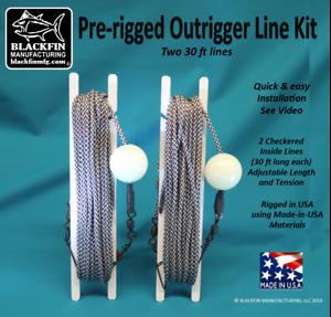 Outrigger ligne Kit-Pré-truquées ligne 2 Set, Two-30 FT lignes