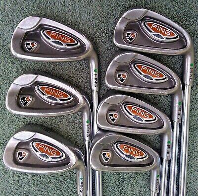 PING i10 Green Dot 4-PW Iron Set RH Stiff Flex Steel  | eBay