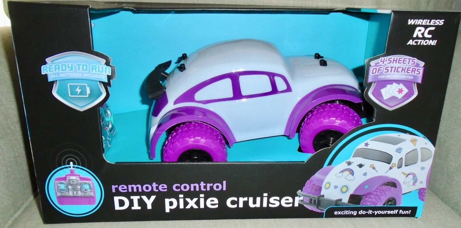 NEW PIXIE  CRUISER  RC REMOTE  CONTROL  CAR