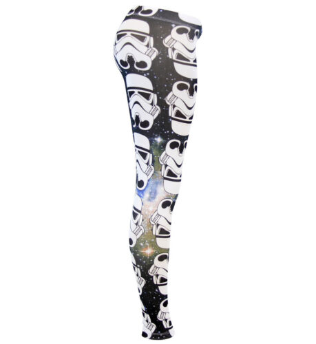 Juniors Sci-Fi Space Movie Star Wars Storm Trooper All Over Ombre Leggings