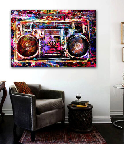 HD Print Boombox recreational Street art Canvas painting on canvas 24x36inch