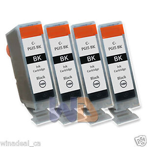 4-Black-PGI-5-Ink-Cartridge-PGI-5BK-PGI5-WITH-NEW-CHIP-for-Canon-MP950-Printer