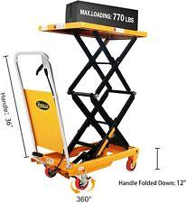 Apollolift Double Scissor Hydraulic Pallet Jack Truck Lift Table Cart 770lb Cap