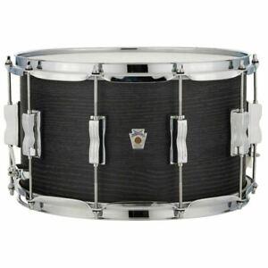Ludwig-LKS784XX3D-8-034-x-14-034-Standard-Maple-Snare-Drum-Black-Shadow