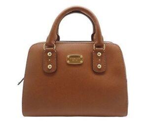 0fb4ff66a220 ... authentic michael kors mk saffiano leather large acorn satchel  crossbody bag 398 3a6a0 9b1f5