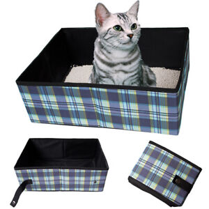 Image Is Loading Portable Cat Litter Box Pan Open Travel Toilet