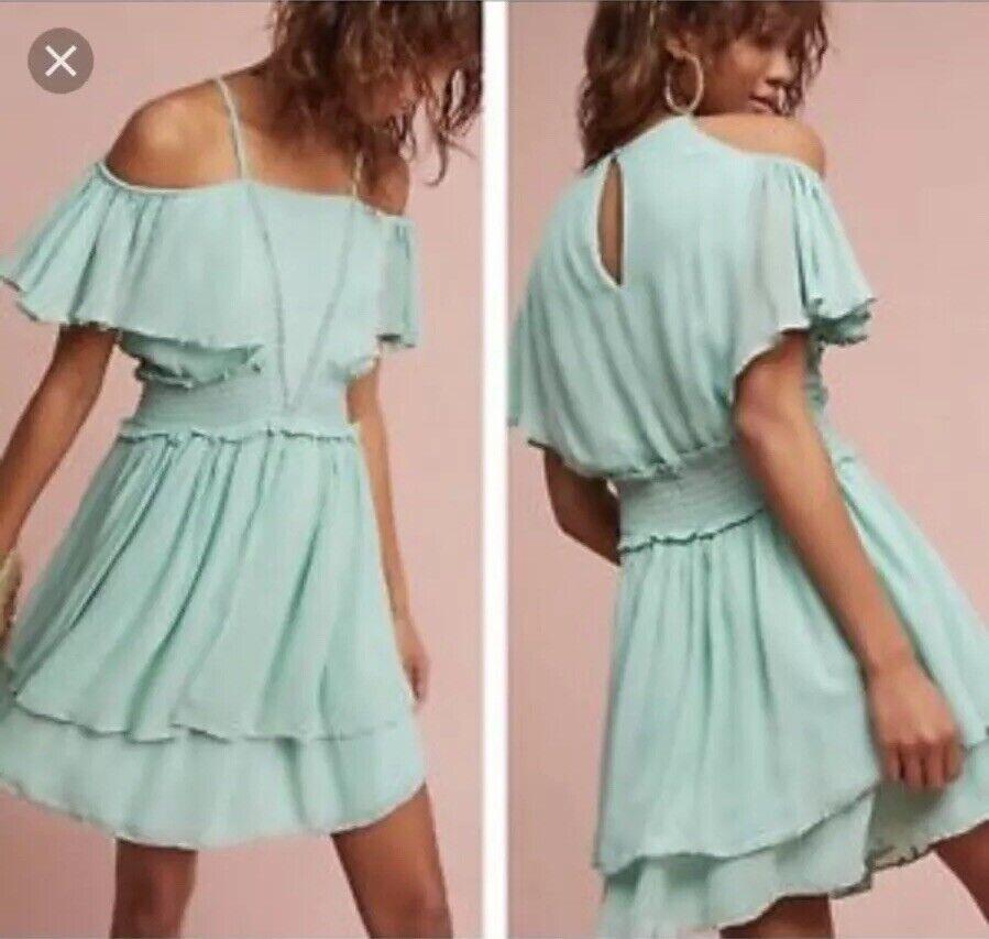 Maeve Elisa Ruffled Off The Shoulder Dress Size Large