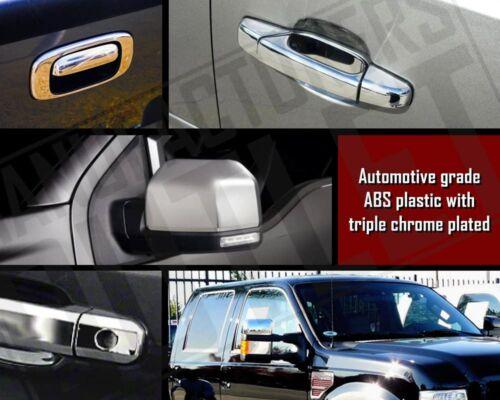 07-14 Chevy Silverado 1500//2500//HD Crew Cab 4dr Chrome Door Handle Cover Trim