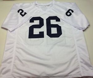 competitive price 1e63d e88c7 Details about SAQUON BARKLEY UNSIGNED CUSTOM WHITE JERSEY