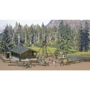 Busch-6042-h0-kit-casetta-della-foresta-con-accessori