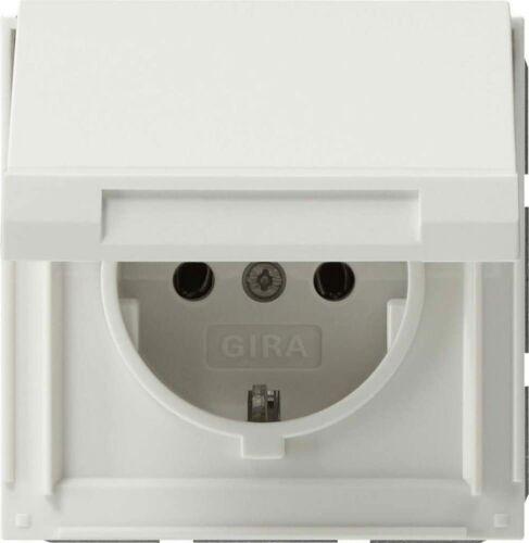 Gira 045466 Steckdose mit Klappdeckel reinweiss TX44
