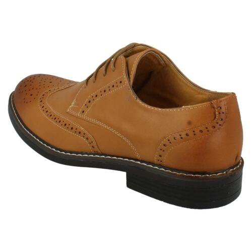 Malvern Hommes Brogue Chaussures A2r143 Par Lacets Style À wqRgw0F