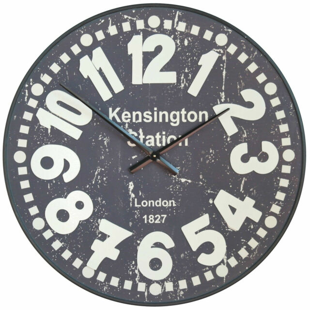 Shabby Chic Large 81 5cm Kensington Station Wall Clock With Raised Numerals