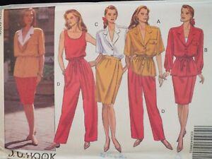 OOP BUTTERICK 3024 Jacket Top Wrap Skirt /& Pants PATTERN 12-14-16//18-20-22 UC
