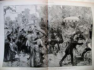 BOIS-DE-BOULOGNE-FETE-DE-LA-PRESSE-BATAILLE-DES-FLEURS-LITTLE-DUCK-GRAVURES-1884