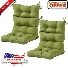 patio chair cushions set of 4. item 4 patio chair cushion set of 2 wicker outdoor furniture high back deep seat green -patio cushions u