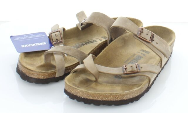 20-40 $125 Women's Sz 38 M Birkenstock Mayari Oiled Leather Hard Footbed Sandal