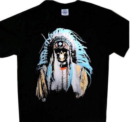 Native American Indian mort TEE NOIR t/'shirt BRAND NEW