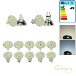 10 x E14 E27 GU10 MR16 LED Lampe Birne Strahler Leuchte Warm-/Kaltweiß 54 SMD