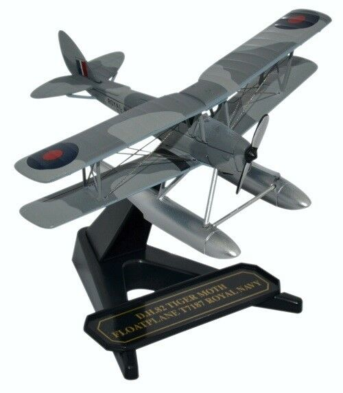 OXFORD DIECAST 72TM009 - 1 72 DH TIGER MOTH FLOATPLANE ROYAL NAVY T7187