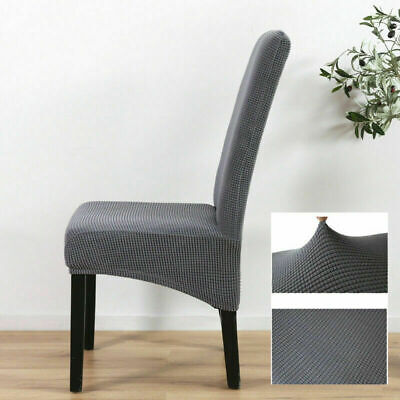 Uk Dining Chair Covers Knit Stretch Removable Chair Slipcovers High Back Ebay