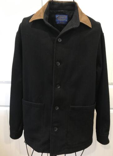 vintage Pendleton Wool Jacket Black Coat Men's lin