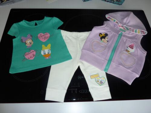 Disney Little Niñas Minnie Mouse y Daisy Pato 3 piezas de este conjunto 3-6 meses nuevo con etiquetas