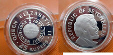 1977 Seychelles Large Proof Silver 25 rupees Silver Jubilee