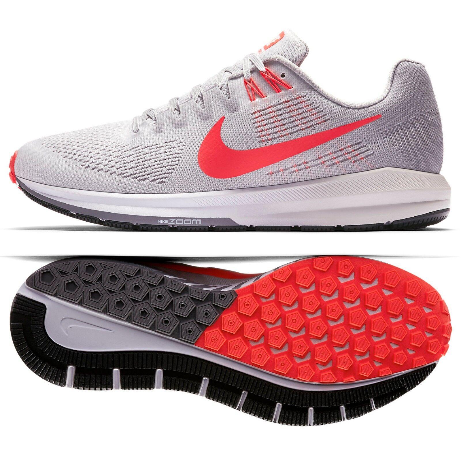 Nike Air Zoom Structure 21 904695-006 Grey Gunsmoke Crimson Men's Running shoes