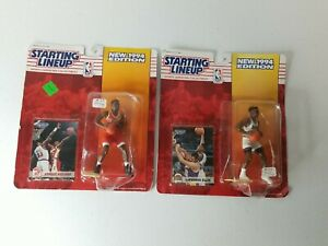 2 NBA Starting Lineup Figurines HAWKS Stacey Augmon & NUGGETS LaPhonso Ellis