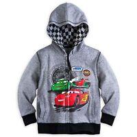 Disney Store Cars Lightning Mcqueen Zipper Front Hoodie Sweat Shirt Boy 5/6