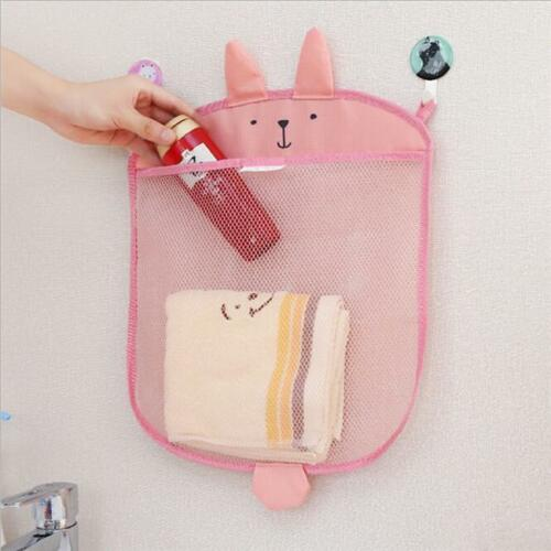 Baby Kids Cartoon Sundries Storage Hanging Bag Net Mesh Home Bathroom Organiser