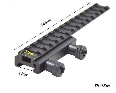 Scope Mount Base Flattop Picatinny Rail Riser Extended Long 20mm Picatinny Weave