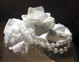 Lace Flower Hair Clip White Flower Corsage Buttonhole Shabby