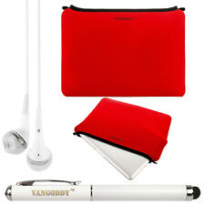 Red Neoprene Sleeve Case for Lenovo Yoga 900 13.3-inch Laptop +Stylus + Earphone