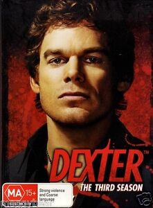 Dexter-Season-3-DVD-2009-4-Disc-Set-Rated-MA15-Region-4-PAL