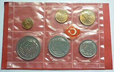 1965 TURKEY - KURUS /& LIRA COMPLETE MINT UNC TYPE COIN SET 6