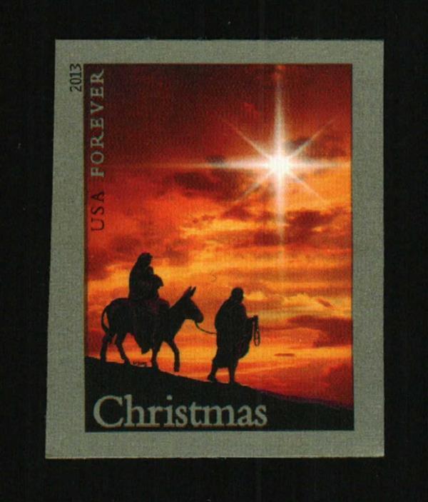 2013 46c Holy Family, Christmas, Imperforate Scott 4813