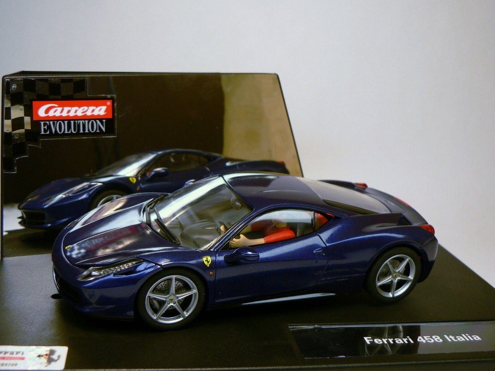 Carrera Evolution 27362 Ferrari 458 Italia NUOVO