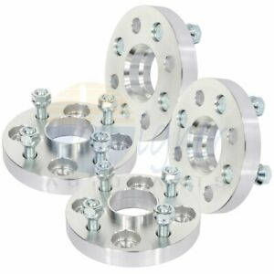 4X silver wheel spacers 4x100 12x1.5 studs 20mm for Hyundai Accent for Kia Rio