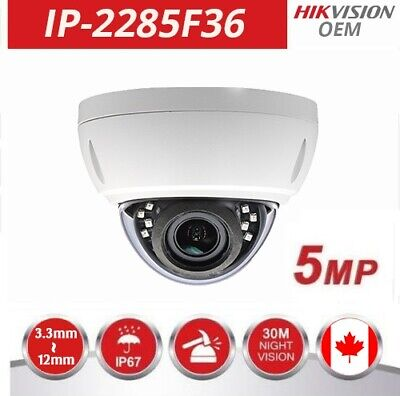 GW5072IP 5MP HD-IP PoE 2.8-12mm Varifocal Dome Security Camera Used Camera