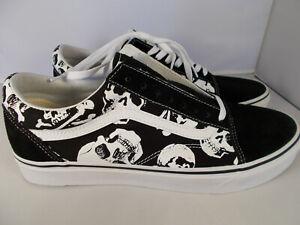 070788c8dc412 Image is loading VANS-Old-Skool-Skulls-Black-White-Skateboarding-Shoes-