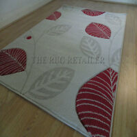 Vogue Cream, Red & Beige Modern Quality Cheap Wilton Large Rugs 200x290cm Vg08